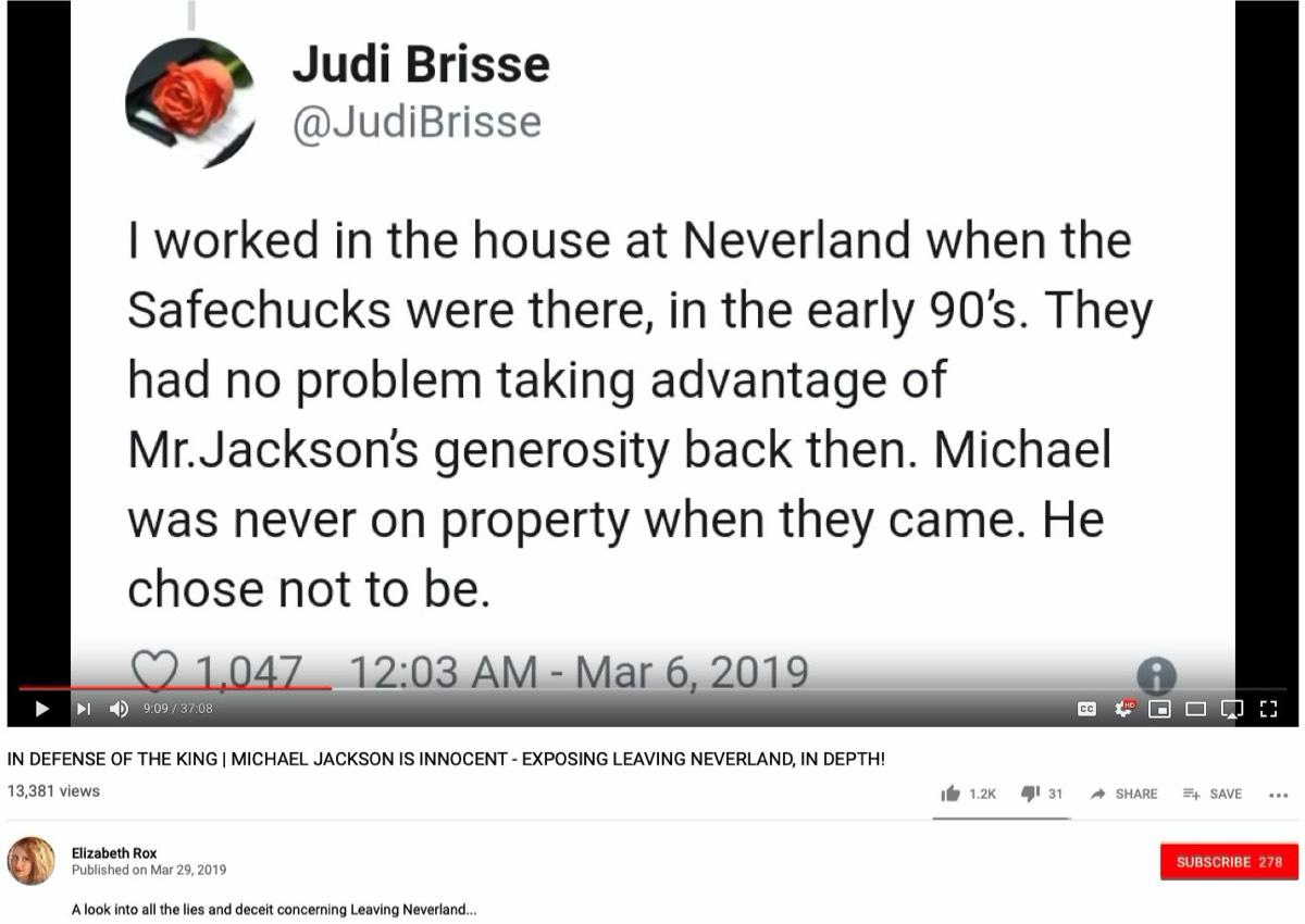 Leaving Neverland Important Background Information
